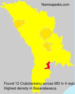 Surname Ciubotareanu in Moldova