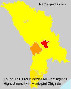 Familiennamen Ciurciuc - Moldova
