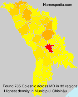 Familiennamen Colesnic - Moldova
