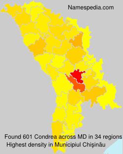 Familiennamen Condrea - Moldova
