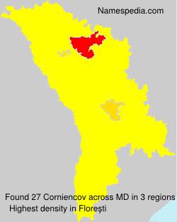 Surname Corniencov in Moldova