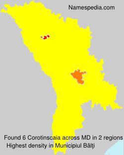 Surname Corotinscaia in Moldova