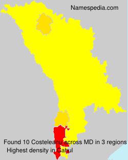 Surname Costeleanu in Moldova