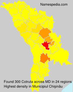 Surname Cotruta in Moldova