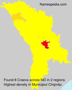 Surname Craeva in Moldova