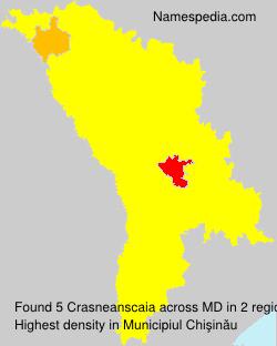 Surname Crasneanscaia in Moldova