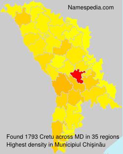 Surname Cretu in Moldova