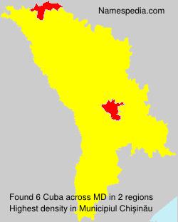 Surname Cuba in Moldova