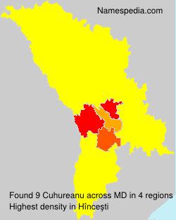 Surname Cuhureanu in Moldova