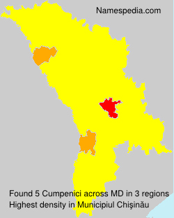 Surname Cumpenici in Moldova