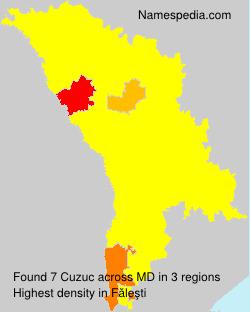 Familiennamen Cuzuc - Moldova