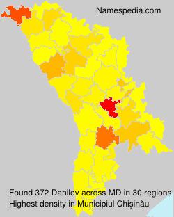 Familiennamen Danilov - Moldova