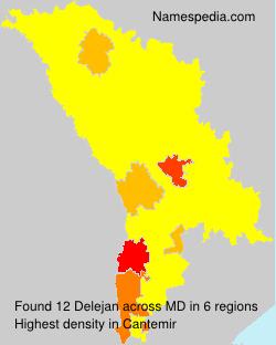Surname Delejan in Moldova