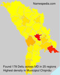 Surname Deliu in Moldova