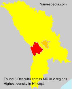 Surname Descultu in Moldova