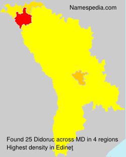 Surname Didoruc in Moldova