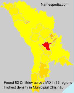 Surname Dmitriev in Moldova