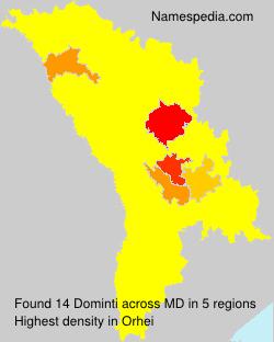 Familiennamen Dominti - Moldova