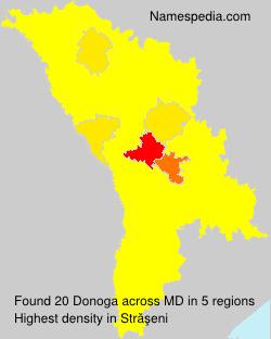 Surname Donoga in Moldova