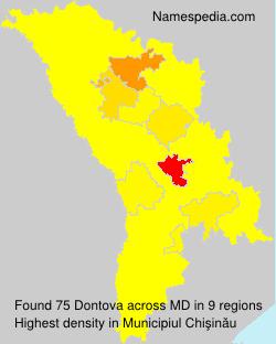 Surname Dontova in Moldova