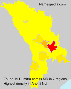 Familiennamen Dumitru - Moldova