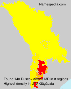 Surname Duscov in Moldova