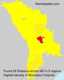 Familiennamen Eliseeva - Moldova