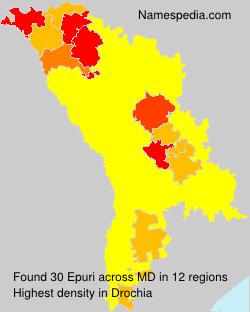 Surname Epuri in Moldova