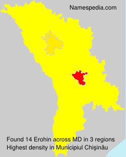 Surname Erohin in Moldova