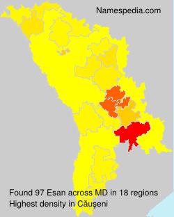 Surname Esan in Moldova