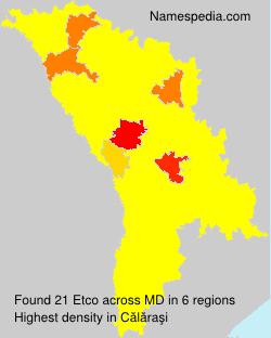 Surname Etco in Moldova