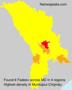 Surname Fadeev in Moldova
