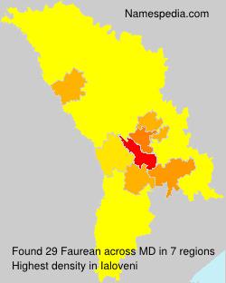 Familiennamen Faurean - Moldova