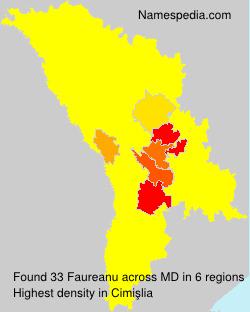 Familiennamen Faureanu - Moldova