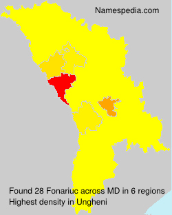 Surname Fonariuc in Moldova