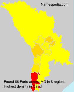Surname Fortu in Moldova