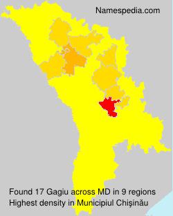 Surname Gagiu in Moldova