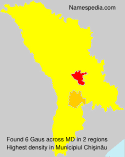 Familiennamen Gaus - Moldova