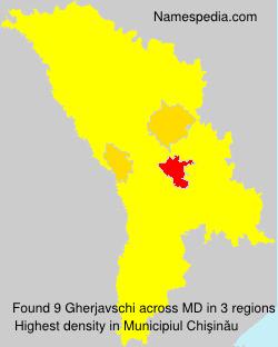 Surname Gherjavschi in Moldova