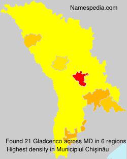 Surname Gladcenco in Moldova