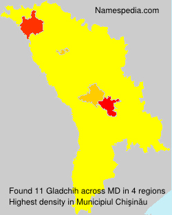 Surname Gladchih in Moldova
