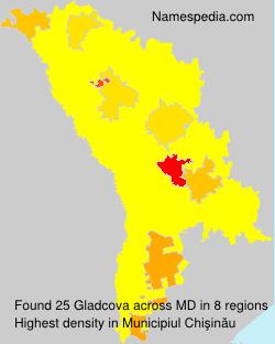 Surname Gladcova in Moldova