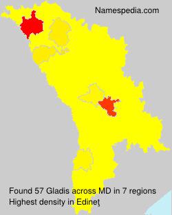 Surname Gladis in Moldova