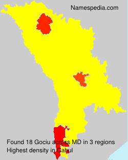 Surname Gociu in Moldova