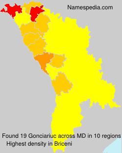 Surname Gonciariuc in Moldova