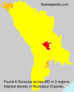 Surname Gorscaia in Moldova
