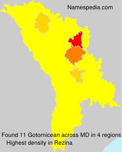 Surname Gotornicean in Moldova