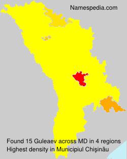 Surname Guleaev in Moldova
