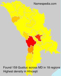 Surname Gustiuc in Moldova