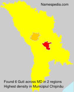 Surname Guti in Moldova